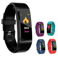 ID115 Plus Smart Bracelet Fitness Tracker Band Heart Rate Bl...