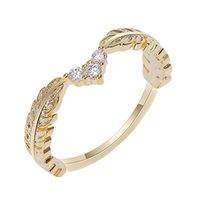 Wheat Rings Golden Finger Ring For Women Peace Rings Female ...