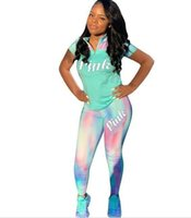 Free Shipping Pink Women Tracksuit 2 Pieces Outfits Sweatshi...