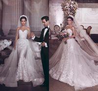 Disse Mhamad Luxury 2021 sirena Abiti da sposa con treno staccabile Sweetheart Abito da sposa abito da sposa Abiti da sposa Vestido de Novia Robe