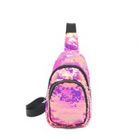 Women Mermaid Sequin Waist Pack Women Fashion Sequin Bag Lad...