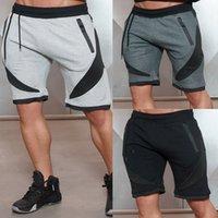 Pantalones cortos de algodón para hombres Jogger Fitness Pantalones de chándal ajustados de secado rápido Slim Pantalones cortos de verano para el hogar Pantalones cortos casuales hasta la rodilla