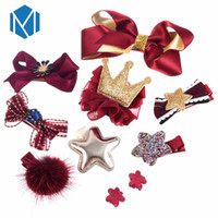 10pcs Kids Children Hair Accessories Ribbon Bow Hair Clip Ha...