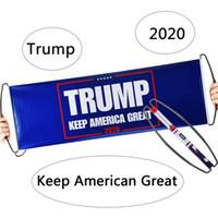 الوجهين دونالد ترامب العلم باليد ترامب العلم مزدوجة مطبوعة الوفير إبقاء أمريكا العظمى راية العلم 2020 أعلام الرئيس الانتخابات DHL