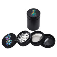 Pineapple Grinder 50mm 4 Pieces Dry Herb Tobacco Smoking Acc...