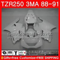 바디 용 YAMAHA TZR250 3MA TZR-250 1988 1989 1990 1991 118HM.55 TZR250 RS RR YPVS 배 백색 전체 TZR250RR TZR 250 88 89 90 91 페어링 키트
