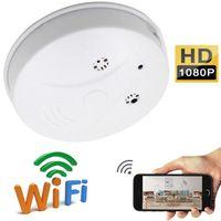 WiFi IP kamera Duman Dedektörü Mini kamera 1080P HD Kablosuz ağ Mini Kameralar Duman Alarmı Güvenlik DVR Kamera Hareket Dadı Kamerası Aktif