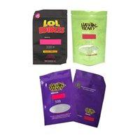 Новый Hashtag Honey Mylar Bag Bole Edibles Shipper Pougher Retail Сумка для хранения для сухого цветка травы