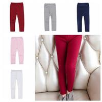 Girl Candy stretch couleur pantalons en tricot Bas Chaussettes Leggings Collants enfants solide mi taille chaud Pantalon en coton Mode Vêtements pour bébé D-6380