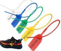 Blitzfußadapter Zip Tie Rot Weiß Blau Gelb Gurt OW Tag Plastic Buckle Virgial Schnürsenkel OFF Zip Tie Tag Teil Zubehör