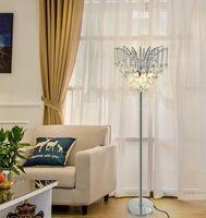 Lampada da terra di cristallo LED di lusso semplice moderno lampada da tavolo in cristallo studio in piedi luce per la camera da letto soggiorno creativo luce moderna