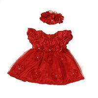 Cute Flower Girls Toddler Baby Princess Pageant Lace Abiti con fascia 6.19