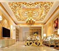 3D Tavan Duvar Kağıdı 3D Klasik kabartma Duvar Boyama Oturma Odası Yatak Odası Duvar kağıtları Ev Dekor 3D Tavan Duvar Kağıdı