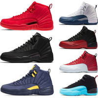 12s zapato de baloncesto Winterized WNTR Gym Red Michigan Bordeaux 12 blanco negro The Master Flu Game taxi hombres deportes zapatillas deportivas tamaño 7-13