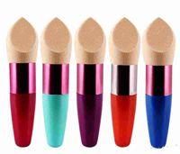 Base de maquillaje Esponja Puff Blender Mezcla Flawless Powder Smooth Cosmetic Smooth Puff cepillo Belleza Herramienta Aplicadores de algodón
