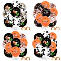 Вечеринка по случаю празднования Хеллоуина Празднование воздушных шаров Вечеринка Атмосфера Аранжировка КТВ Латексные шары Набор Фестиваль тыквы Печать Новый Стиль 7 9wjH1