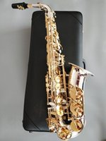 Immagine reale di marca NUOVO YANAGISAWA A-WO37 Alto Saxophone Silver-Plated Gold Key professionale Super Gioca Sax con il caso