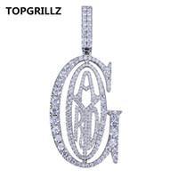 Topgrillz hip hop rapper tyga g ice out anhänger micro pave cz design mit großen kautionen für männer schmuck geschenk j190713