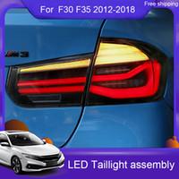 2xCar التصميم أدى الذيل ضوء لسيارات BMW F35 F30 318I 320I 318Li 3 سلسلة الجمعية الضوء الخلفي 2012-2018 الفرامل الخلفية + عكسي + مصباح إشارة