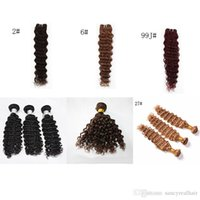 저렴한 머리 50g/조각 6 개/많은 깊은 파 브라질 머리 씨실 Remy 사람의 모발 번들에 자연적인 색깔 또는 11 할 수 있는 옵션을 12-28 인치