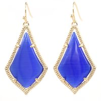 2021 Dangle Style Kendra Cats Inlay Multi Color Water Drop Pendientes para niña