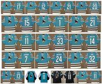 Vintage San Jose Sharks Jersey 24 Sergei Makarov 7 IGOR LARIONOV 11 Kelly Kisio 33 MARTY McSORLEY 14 MARLEAU 15 CRAIG JANNEY CCM hockey