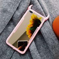 Luxus spiegel telefon case für iphone 7 6 6 s 5 8 plus nette 3d teufel horn abdeckung für iphone x xs max xr hart acryl zurück case coque