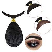 Yeni Makyaj Araçları Kristal Tembel Göz Farı Damga Kırışık Göz Farı Damga Işıltılı Tembel Aplikatör Silikon Göz Farı Mühür 1 Adet