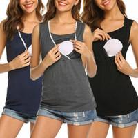 الرباط نساء ملابس الأمومة الحوامل الرضاعة الطبيعية التمريض تانك السيدات الصلبة صيف بلا أكمام عارضة سترة كاميس