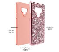 Lüks Tasarımcı Telefon Kılıfları Rhinestone Elmas Bling 2in1 Durumda iPhone Için XR XS MAX X 8 7 6 Samsung Not 9