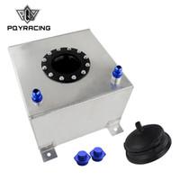 PQY RACING - Tanque de compensación de aluminio de 20L con tapa / espuma en el interior del espejo pulido Celda de combustible sin sensor PQY-TK14