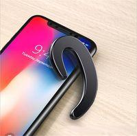 Écouteurs osseux conduction dans la salle de sport sans fil Sports Business Car Téléphone Bluetooth casque casque pour: iPhone Huawei Samsung Écouteur