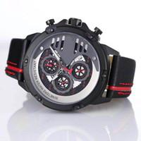بارد نمط T- سباق اللمس كرونوغراف كوارتز الرجال المعصم المحدودة T048 كارسون رجل ساعة تقليدية الأحمر 1853 حزام جلد الساعات