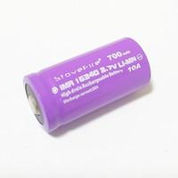 100٪ ارتفاع الفعلي capacit 16340 700MAH 10A 3.7V ليثيوم قابلة للشحن batteriy لاستخدامها للأدوات الطبية / الرقمية الشحن مجاني