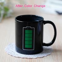 Batteria Magia Mug positivo colori Energy cambia tazza di ceramica di sbiadimento del tè del caffè latte tazze della novità Gifts Promotion Nuove