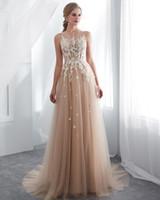 VRAIES Photos Designer Campagne Style Champagne Robes De Mariée Illusion Dentelle sans manches Appliquée Western Bobo Robes de mariée