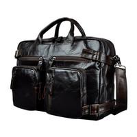 """جلد طبيعي رجل تصميم متعددة الأغراض حقيبة maletas maletin الأعمال 15 """"حقيبة كمبيوتر محمول حقيبة حمل حقيبة k1013 Y19051802"""