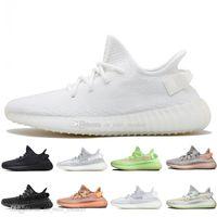 2019 Kanye West Clay v2 statico riflettente Gid Gid Glow in Dark Mens Scarpe da corsa Scarpe da corsa Hyperspace True Form Donne Uomo Sport Designer Sneakers