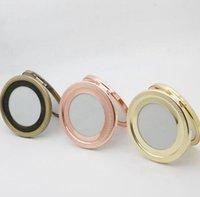 Specchio portatile di trucco specchio compatto di trucco della borsa tasca Cheap Compact Silver Mirror per il regalo fai da te KKA7791