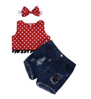 New Spring Summer Fashion For Infant Baby Kids Girl Polka Do...