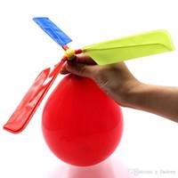 Voando balão de helicóptero diy balão de avião de brinquedo crianças brinquedo auto-combinado balão de helicóptero ponto cênico venda quente presentes