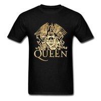 الملكة الفرقة الملكية كريست شعار T قميص قصير الأكمام بلايز موضة ساخنة O-عنق رجل بلايز تريند XS-3XL