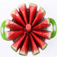 Herramientas prácticas de cocina Cortadora de sandía creativa Cortador de melón Cuchillo 410 Corte de frutas de acero inoxidable Cortador de frutas Herramientas de frutas