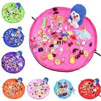 1.5m Kids Play Mat Jouets Sacs de rangement organiseur ronde pliable Tapis de jeu Tapis Blanket Portable jouets de plage Boîtes étanche Sac pochette 8colors