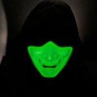 Sports en plein air Airsoft Tir de la photo Protection Période Tactique Demi-visage Glow dans le masque de nuit P03-122