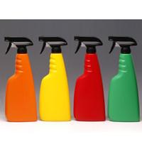Schwarz Farbe Kunststoff-Nebel-Sprüher 500 ml 16 Unzen Sprühflasche mit Trigger-Spray für Reinigungsmittel P122