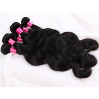 6 Bundles 50g / pcs dell'onda del corpo di vergine dei capelli brasiliani che tessono peruviani Virgin malese trama dei capelli di Remy brasiliano al 100% estensioni dei capelli umani