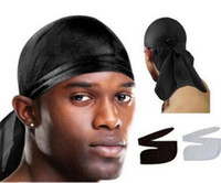 2018 Bandana Durag DU- RAG Satin Noir Caps Hip Hop Rap Cap Do...