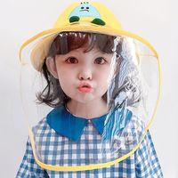 Pantalla facial Protección de la cara del bebé Sombreros Escudo de niños del bebé protector casquillo del niño Anti-epidemia anti-spray anti-saliva Pescador niños Tr