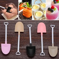 Disposable Plastic Cake Spoon Potted Ice Cream Scoop Shovel ...